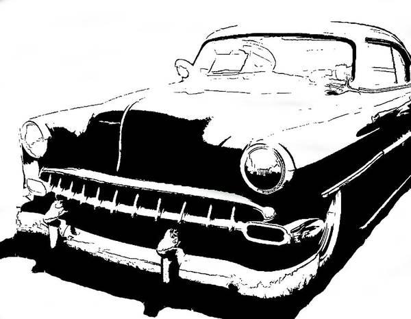 Digital Art - Custom 1954 Chevy Tee by David King