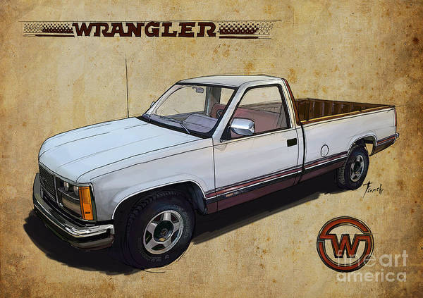 Truck Drawing - Custom For Rox. Extreme Truck. Wrangler Style. by Drawspots Illustrations