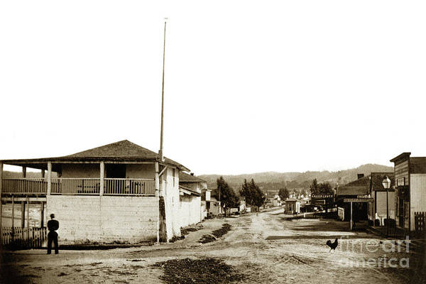 Photograph - Custom House Alvarado And Main Streets Later Calle Principal Cir by California Views Archives Mr Pat Hathaway Archives
