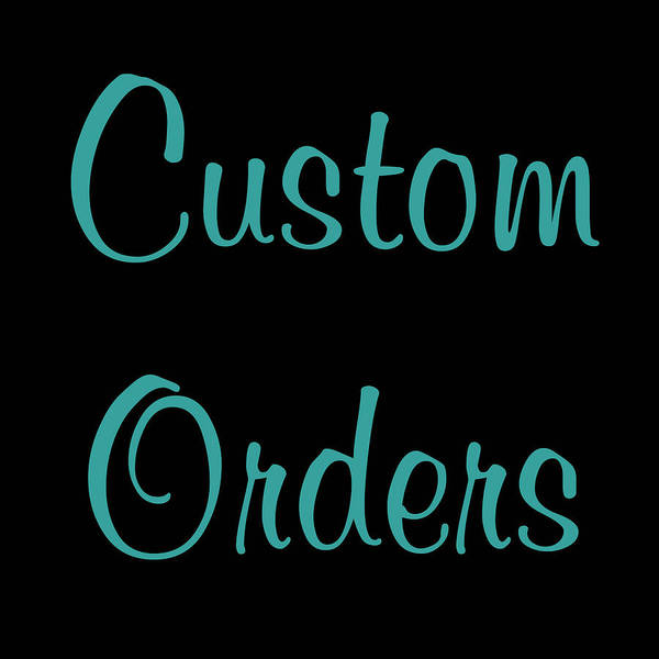 Photograph - Custom Orders Gallery Logo by Joann Vitali