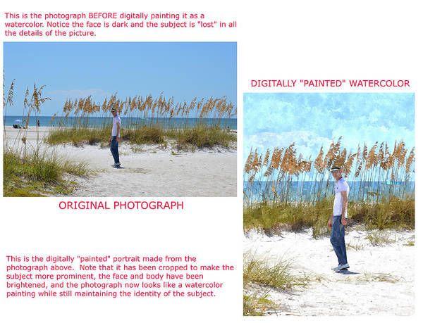 Photograph - Example 5 - Custom Photo-painting by Susan Molnar