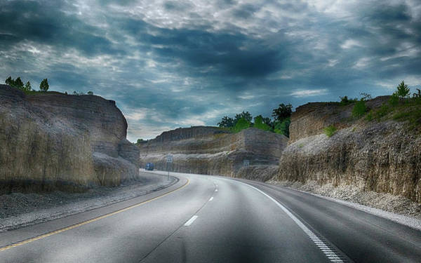 Photograph - Cut Through The Mountain by Judy Hall-Folde