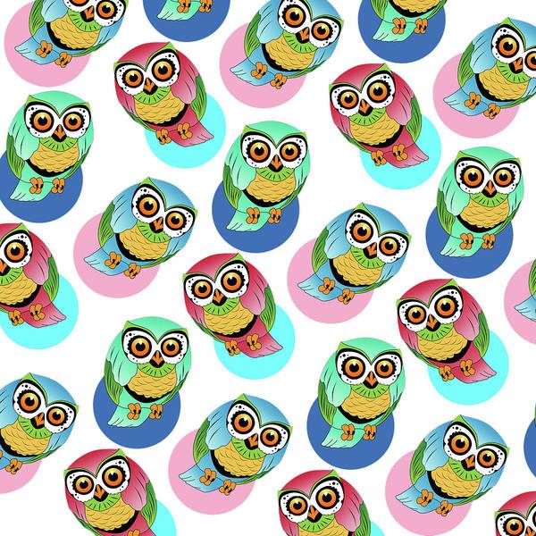 Wall Art - Digital Art - Cute Birds 2 by Mark Ashkenazi