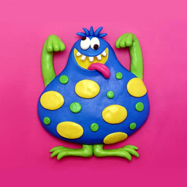 Troll Mixed Media - Cute Blue Monster by Amy Vangsgard