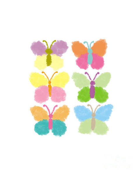 Painting - Cute Butterfly Illustration by Rasirote Buakeeree
