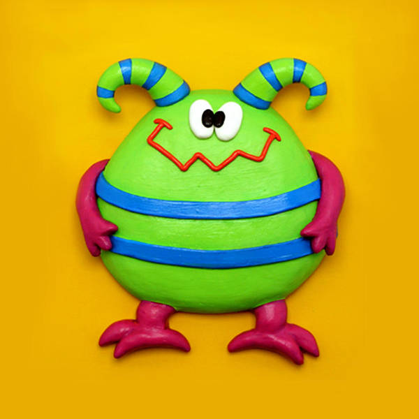 Troll Mixed Media - Cute Green Monster by Amy Vangsgard