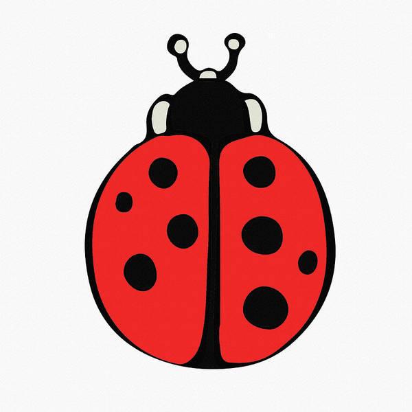 Wall Art - Digital Art - Cute Ladybug For Kids by Irina Sztukowski