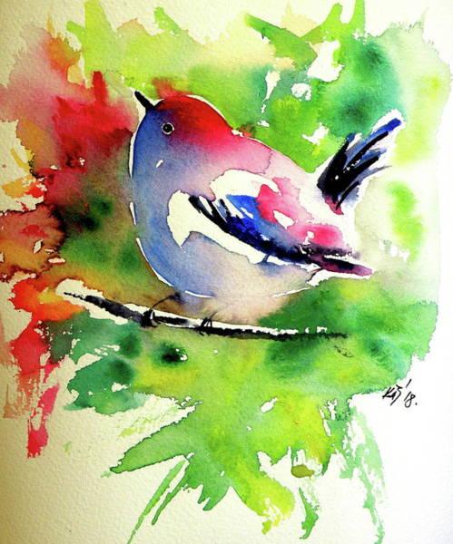 Wall Art - Painting - Cute Little Bird IIi by Kovacs Anna Brigitta