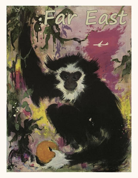 Far East Painting - Cute Monkey From A Far East by Long Shot