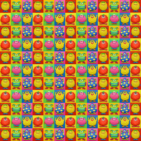 Troll Mixed Media - Cute Monster Pattern by Amy Vangsgard