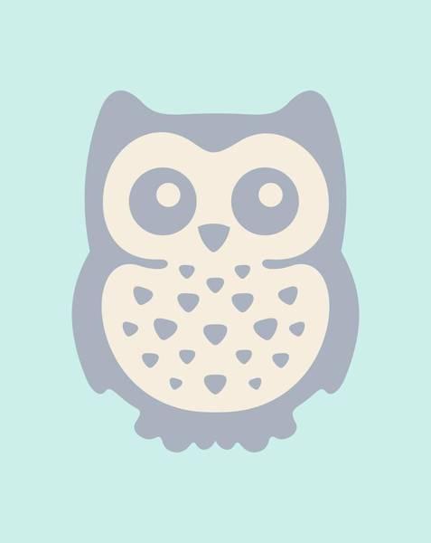 Reader Digital Art - Cute Owl by Julia Jasiczak