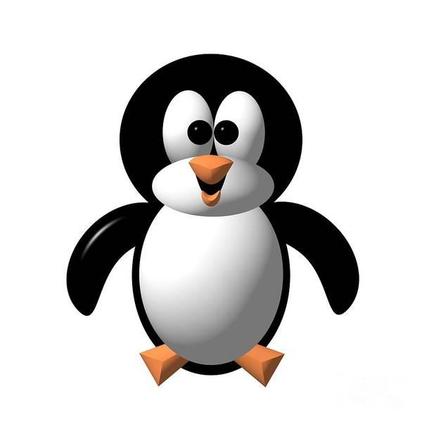 Digital Art - Cute Pengie The Penguin  by Rose Santuci-Sofranko