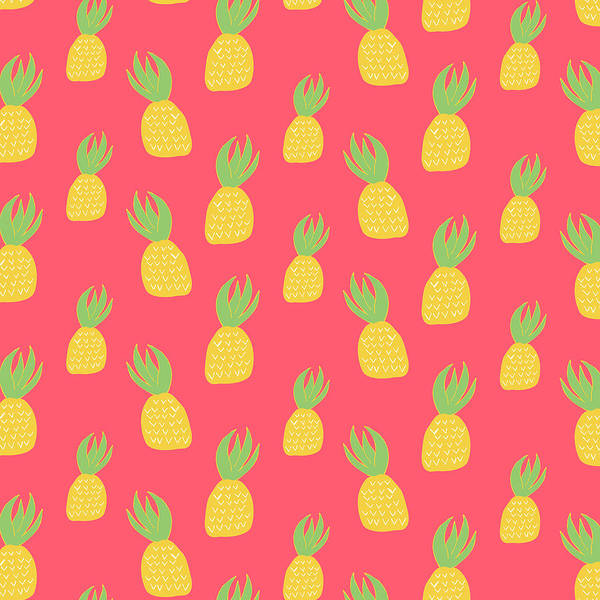 Pineapples Digital Art - Cute Pineapples by Allyson Johnson