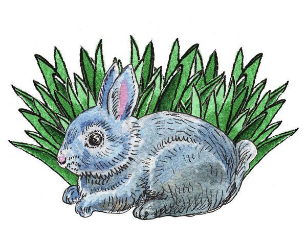 Painting - Cute Bunny Rabbit by Irina Sztukowski