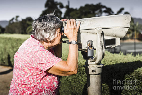 Senior Photograph - Cute Senior Woman On Sightseeing Travel Tour by Jorgo Photography - Wall Art Gallery