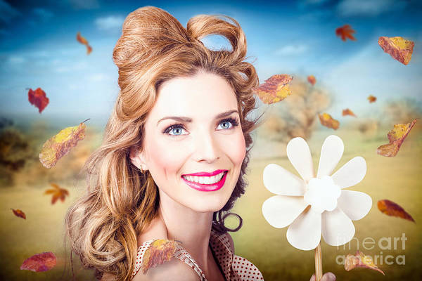 Photograph - Cute Woman With Magnificent Hair. Beauty In Nature by Jorgo Photography - Wall Art Gallery