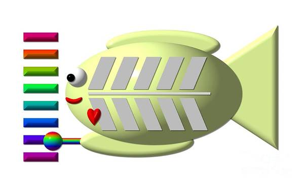 Digital Art - Cute X-ray Fish Playing The Xylophone by Rose Santuci-Sofranko