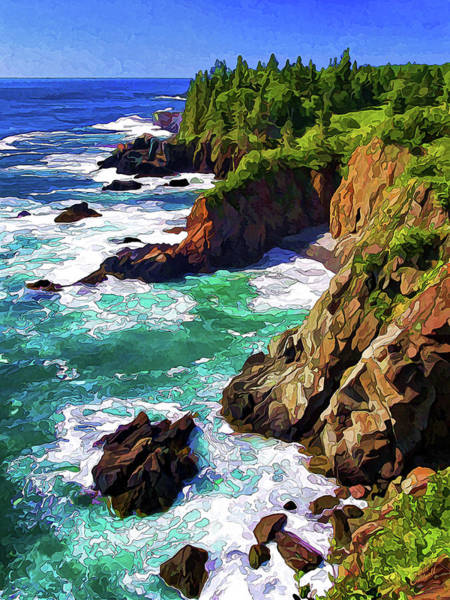 Photograph - Cutler Coast Whitewater by ABeautifulSky Photography by Bill Caldwell