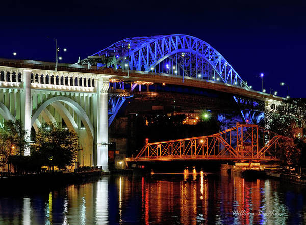 Photograph - Cuyahoga Bridges by William Beuther