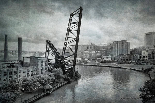 Photograph - Cuyahoga River Lift Bridge by William Beuther