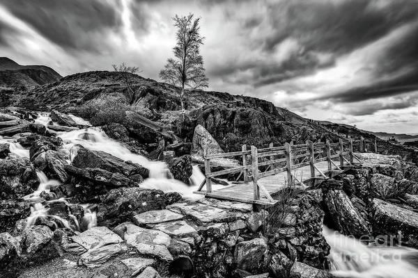 Photograph - Cwm Idwal Bridge Snowdonia by Adrian Evans
