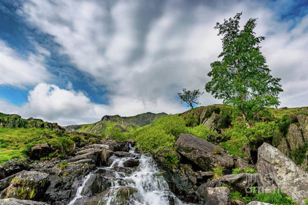 Photograph - Cwm Idwal Rapids Snowdonia by Adrian Evans
