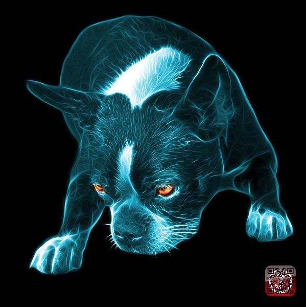 Mixed Media - Cyan Boston Terrier Art - 8384 - Bb by James Ahn