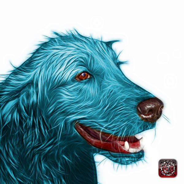 Painting - Cyan Golden Retriever Dog Art- 5421 - Wb by James Ahn