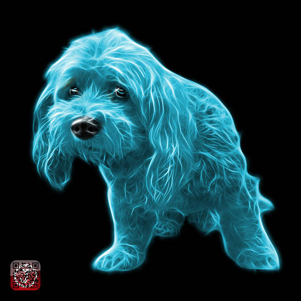 Painting - Cyan Lhasa Apso Pop Art - 5331 - Bb by James Ahn