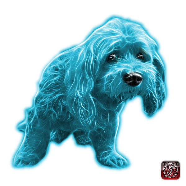Painting - Cyan Lhasa Apso Pop Art - 5331 - Wb by James Ahn