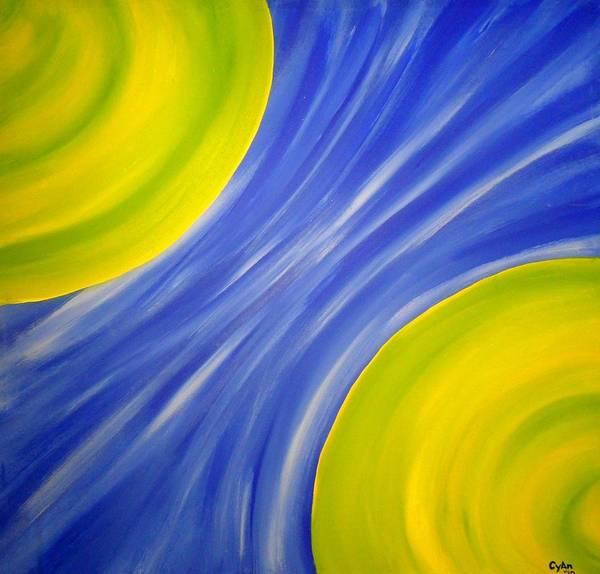 Painting - Cyan Prounounced Sigh-ann  by Cyryn Fyrcyd