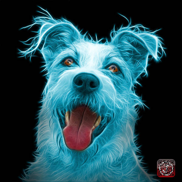 Painting - Cyan Terrier Mix 2989 - Bb by James Ahn