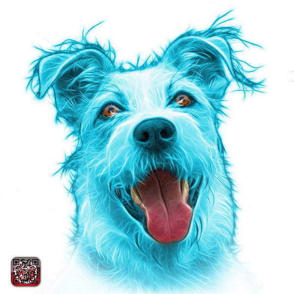 Painting - Cyan Terrier Mix 2989 - Wb by James Ahn