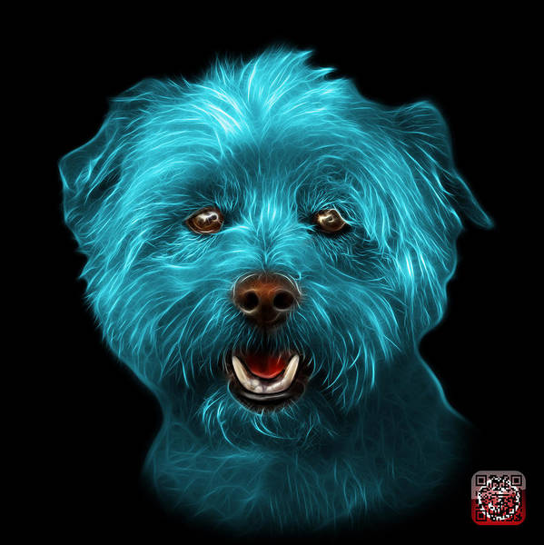 Mixed Media - Cyan West Highland Terrier Mix - 8674 - Bb by James Ahn