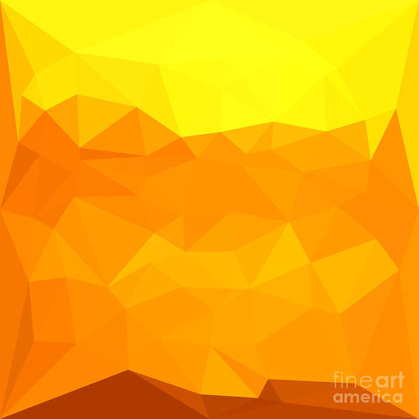 Wall Art - Digital Art - Cyber Yellow Abstract Low Polygon Background by Aloysius Patrimonio