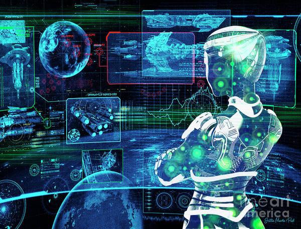 Digital Art - Cyberspace by Jutta Maria Pusl