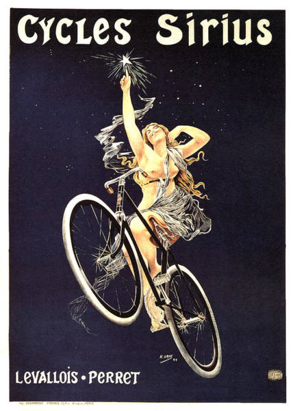 Wall Art - Mixed Media - Cycles Sirius - Bicycle - Vintage French Advertising Poster by Studio Grafiikka