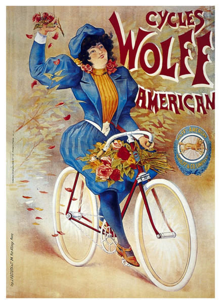Wall Art - Mixed Media - Cycles Wolff, American - Bicycle - Vintage Advertising Poster by Studio Grafiikka