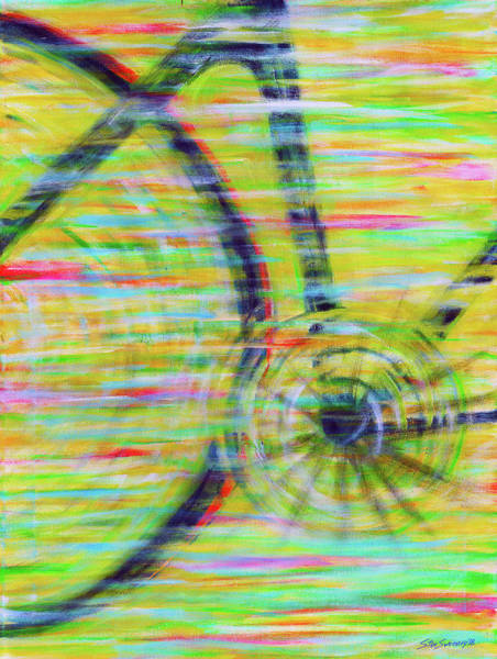 Painting - Cycling At Speed by Stan Sweeney