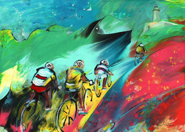 Painting - Cycling In Majorca 01 by Miki De Goodaboom