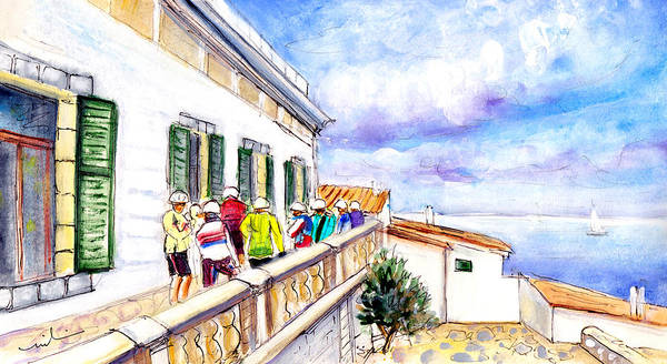 Wall Art - Painting - Cycling In Majorca 04 by Miki De Goodaboom