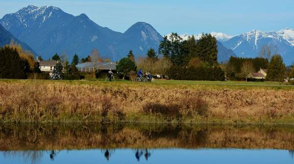 Alouette Wall Art - Photograph - Cycling In Pitt Meadows  by Sonja Peterson Photography