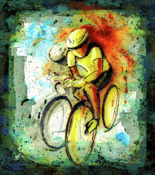 Painting - Cycling Madness 01 by Miki De Goodaboom