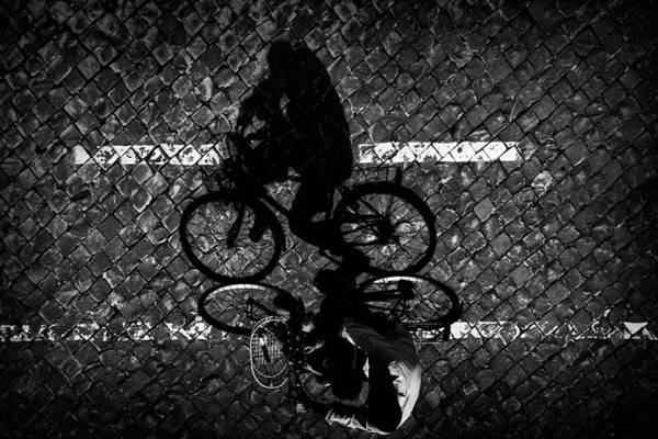 Wall Art - Photograph - Cycling With Dad... by Antonio Grambone