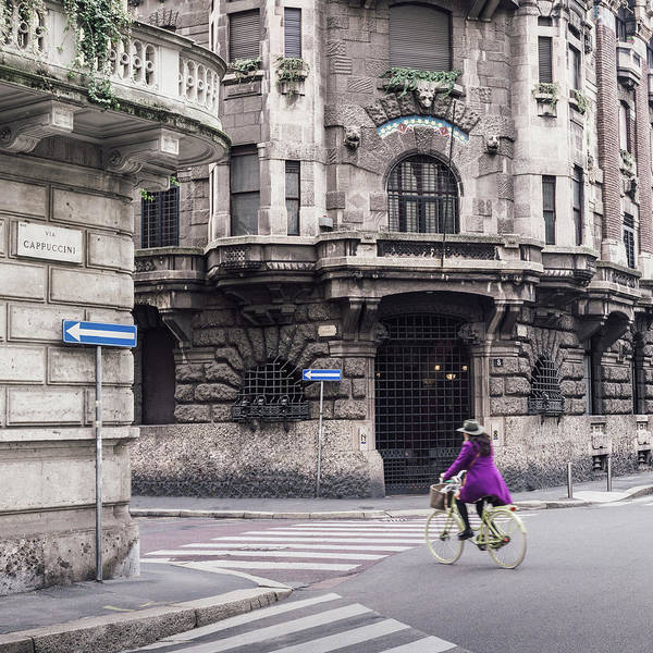Photograph - Cyclist In Gothic Milan, Italy by Alexandre Rotenberg