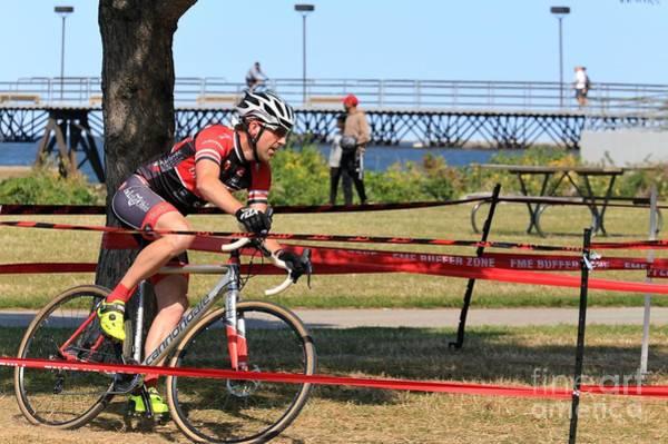 Carbon Fiber Photograph - Cyclocross Cycling Race by Douglas Sacha