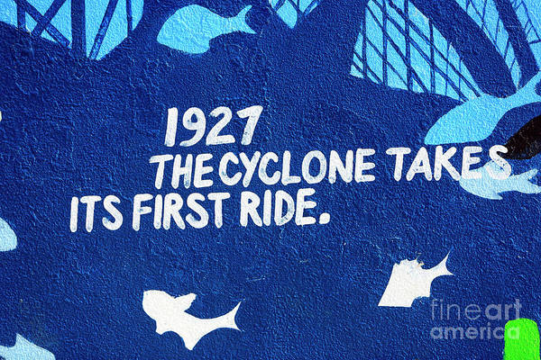 Photograph - Cyclone Takes Its First Ride by John Rizzuto