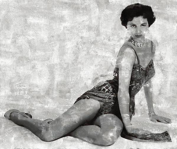 Charisse Painting - Cyd Charisse Hollywood Actress And Dancer by Mary Bassett