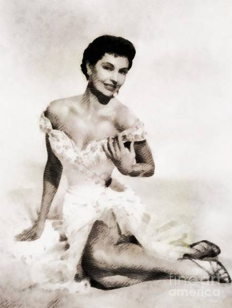 Charisse Painting - Cyd Charisse, Hollywood Legend By John Springfield by John Springfield