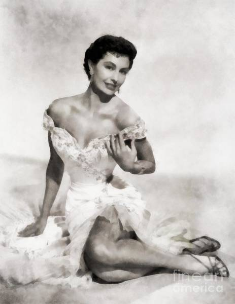 Charisse Painting - Cyd Charisse, Hollywood Legend by Frank Falcon